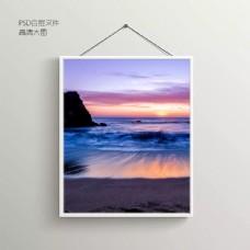 浪边摄影无框装饰画