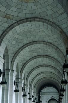 欧式走廊建筑图片