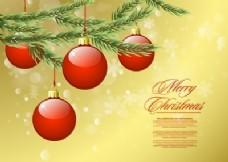 圣诞饰品和树枝