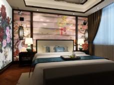 玉石雕刻卧室背景墙设计素材模板