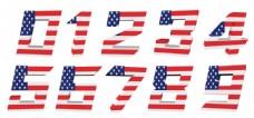 美国国旗图案数字图片图片