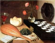 油画厨房一角装饰画