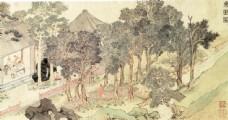 国画人物风景图片