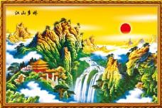 江山如此多娇中堂画图片