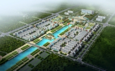 城市规划建筑鸟瞰图片