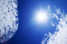 天上的太阳光图片