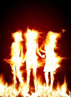 燃烧的人物图片