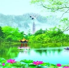 西湖风景装饰画