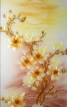 牡丹装饰背景墙