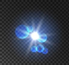蓝色光圈光晕