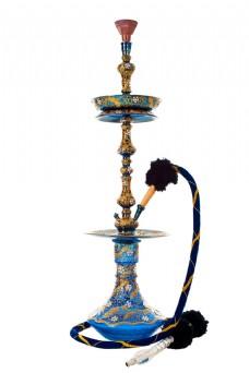 蓝色花纹烟壶图片