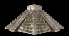 玛雅金字塔建筑设计三维模型