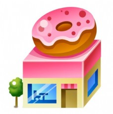 甜品店立体图标