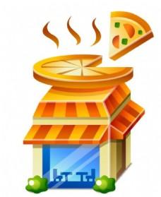 披萨店立体图标