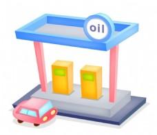 加油站立体图标