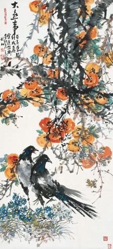 中国水墨花鸟画图片