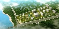 小区建筑规划鸟瞰效果图片
