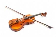 摆放着的小提琴图片