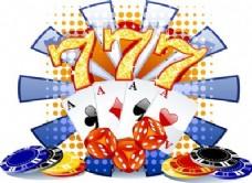 赌场背景矢量