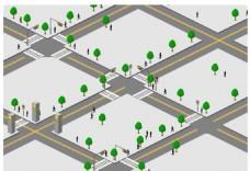 商业街立体图标