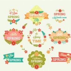 春天促销标签