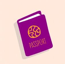 通行证 白底摆拍 护照通