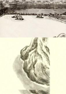 水墨国画局部图片