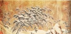 冬天树木风景画图片