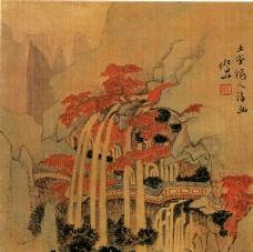 水墨山水国画图片