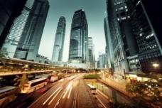 城市夜景鸟瞰图片