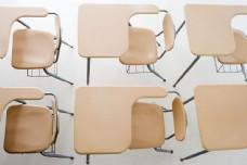 整齐桌椅学习工具图片