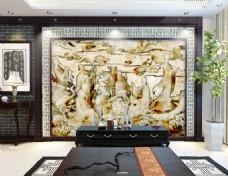 花纹浮雕装饰背景墙