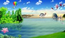 大自然风景装饰画