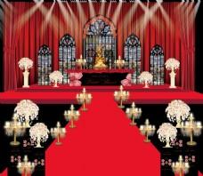 红黑婚礼 杜嘉班纳舞台