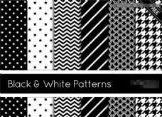 黑白五角星和圆点斜纹PS笔刷