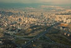 鸟瞰城市风景图片