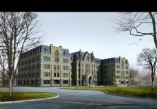 欧洲庄园建筑效果图片
