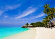 海边沙滩美丽风景图片