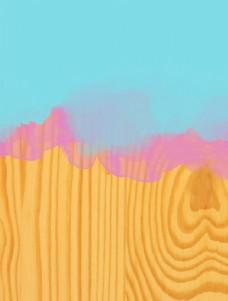 彩色木纹渐变图片