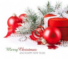 圣诞球与礼物图片