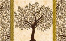 装饰树木背景墙