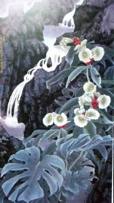 山水风景花卉绘画图片