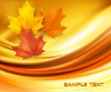 抽象背景下的现实的秋天