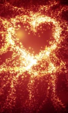 星星组成的爱心图片图片