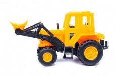 黄色的玩具推土机图片