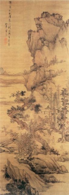 溪山曳杖图装饰画