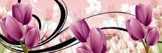 粉色花朵花纹装饰画