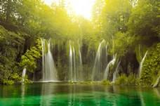 大自然瀑布装饰背景墙