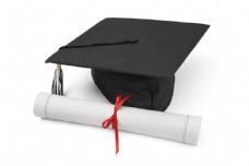 博士帽和结业证书图片