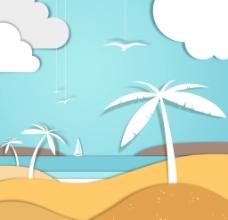 海边风景插画